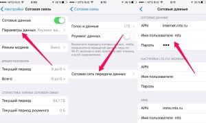 Internett-innstillinger Megafon på iPhone
