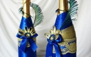 Jak zdobit láhev šampaňského