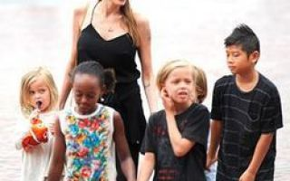 Her, som nå, ser barna til Angelina Jolie og Brad Pitt