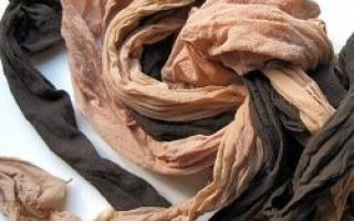 A segunda vida da velha meia-calça. 11 maneiras de usar