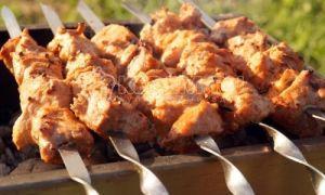 Shish kebab z vepřového masa