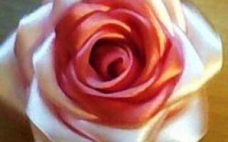 Trandafiri din panglici cu mâinile lor