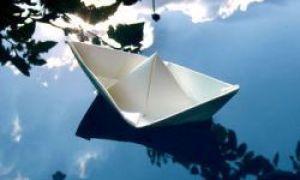 Como fazer um barco feito de papel
