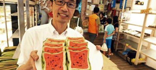 In Taiwan wird Brot in Form von Wassermelonen hergestellt
