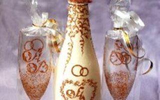 Decoupage šampaňského