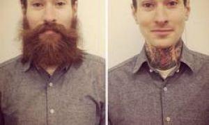 25 bilder, som viser at en mann med skjegg og uten – det er to forskjellige personer
