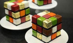 Kuchen Rubiks Würfel