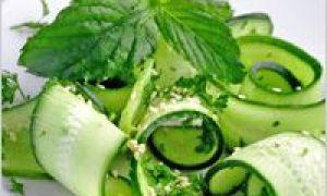 Saláty z okurky